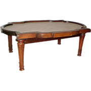 SALE 5275 19th C. Victorian Coffee Table with Marble Top