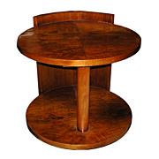 SALE 5467 Fabulous Round Art Deco Center Table
