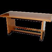 SALE 5491A Ash, Mahogany & Rosewood Art Deco Table c.1928