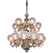SALE 5555 18-Light Two-Tier Gasoiler Chandelier