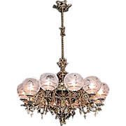 SALE 5556 Rococo 12-Light Single Tier Chandelier