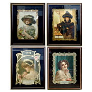 SALE 5584 Set of Art Nouveau Women Posters.