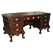SALE 5588 19th C. Chippendale Executive Desk