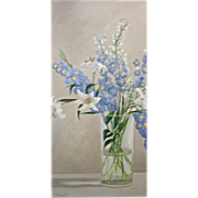 SALE 5610 Oil on Canvas Floral Painting Signed: Gerry High