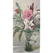 SALE 5611 Oil on Canvas of Floral Scene Signed: Gerry High