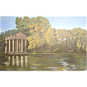 SALE 5614 Oil on Canvas Landscape Mural Signed: Gerry High