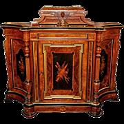 SALE 563 Inlaid Cabinet with Bronze Trim