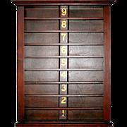 SALE 5634 Rare Antique 19th C. Ball Rack