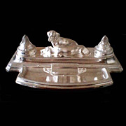 SALE 5688A Fabulous Silver Plated WMF Dog Inkwell