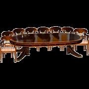 SALE 5780 9-Piece Empire Dining Set circa 1910