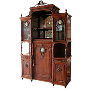 SALE 5797 French Cabinet with Wedgwood Plaques