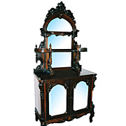 SALE 5847 Beautiful Antique Rosewood Etagere Signed E.W. Hutchings N.Y.