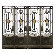 SALE 5904 Stunning Quadruple Panel Iron Gate
