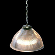 SALE 5955 Original Brass Holophane Light Fixture.