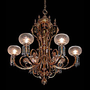SALE 5975 Fantastic 19th C. Chandelier w/Globes