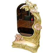 SALE 5999 Art Nouveau Mirror with Figural Lady