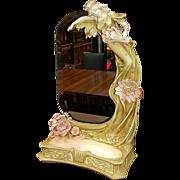 SALE 5999 Art Nouveau Mirror with Figural Lady