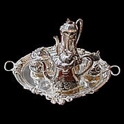 SALE 6049 Beautiful Silver Plate Art Nouveau Tea Set by WMF