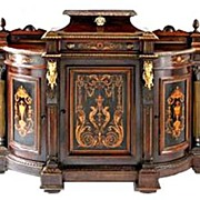 SALE 6103 Antique American Renaissance Revival Rosewood Credenza by Pottier & Stymus