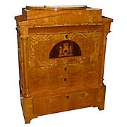SALE 6276 Rare Biedermeier Style Antique Secretary Desk