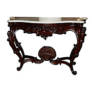SALE 6335 American Rococo Rosewood Marble Top Pier Table