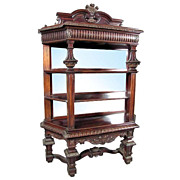 SALE 6411 American Victorian Rosewood Antique Etegere of the Highest Quality