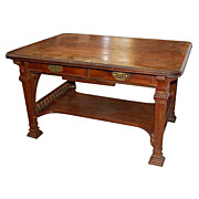 SALE 6412 American Victorian Rosewood Partners Desk by Herter