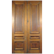 SALE 6416 Victorian Grand Scale Walnut Door with Raised Burl Panels