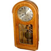 SALE 6629 Walnut & Burl Antique Wall Clock