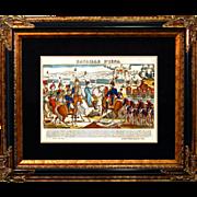 """SALE 6877 Napoleon Print - """"Bataille D'Iena"""""""