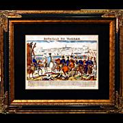 """SALE 6878 Napoleon Print - """"Bataille De Wagram"""""""