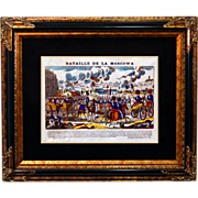 "SALE 6880 Napoleon Print - ""Bataille De La Moscowa"""