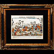 """SALE 6884 Napoleon Print - """"Bataille D'Austerlitz"""""""