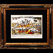 "SALE 6888 Napoleon Print - ""Prise D'Alexandrie"""