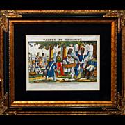 "SALE 6890 Napoleon Print - ""Valeur Et Humanite"""