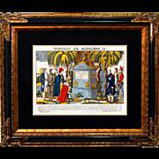 "SALE 6896 Napoleon Print - ""Tombeau De Napoleon II"""
