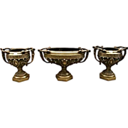 SALE 7047 French Neo-Classical 3-Piece Jardiniere & Urn Set