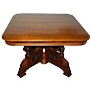 SALE 7225 American Eastlake Walnut Center Table