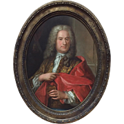 SALE 7340 18th C. Old Masters Portrait of English Gentleman
