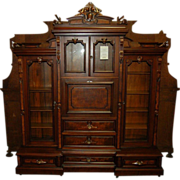 SALE 7374 19th C. American Renaissance Rosewood Bookcase