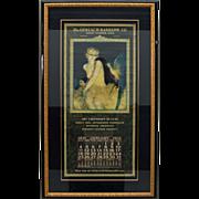 SALE 7589 Original Art Calendar produced by the Gerlach-Barklow Co.