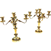 SALE 7633 Pair of Silver Candelabras