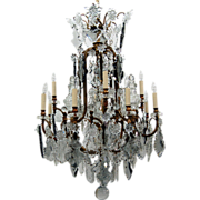 SALE 7652 19th C. Crystal Chandelier