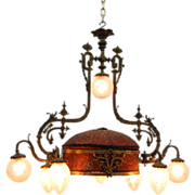 SALE 7654 19th C. French Rococo Chandelier