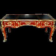 SALE 7718 French Rosewood Bureau Plat Desk c. 1890