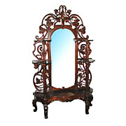 SALE 8175 Pierce Carved Rosewood Victorian Rococo Revival Etagere