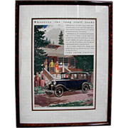 SALE 8454 1930's Framed Auto Print Advertisements