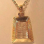 Elegant KENNETH J. LANE Necklace with Crystal Stone