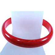 Cherry Red Bakelite Bracelet