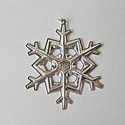SALE Gorham 1989 Sterling Snowflake Ornament with Gold Filled Date